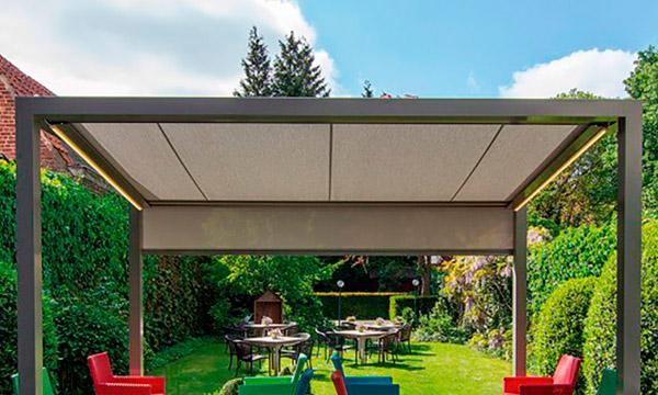 Pergolas et couvertures de terrasse en toile ou à lamelles à ...